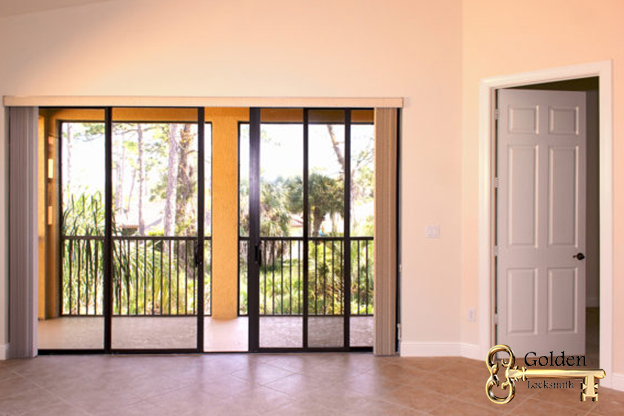 Secure Sliding glass door